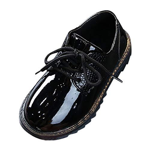 Lederschuhe Junge - Junge Schuhe Schnürhalbschuhe Elegant Oxford Anzug Leder Derby Männer Lackleder Lederschuhe -