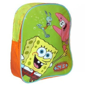Image of Spongebob Squarepants Backpack (Orange/Green)