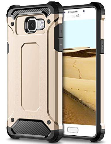 Coolden Samsung Galaxy A5 2016 Hülle, Premium [Armor Serie] Outdoor Stoßfest Schutzhülle Tough Silikon + Hard Bumper Militärstandard Handyhülle für Samsung Galaxy A5 2016(Gold)