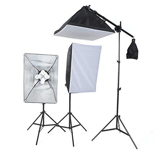 amzdeal-kit-tenda-studio-cubo-con-lampada-2-x-45w-2-x-15cm-paralume-2-x-supporto-telescopico-4-panno