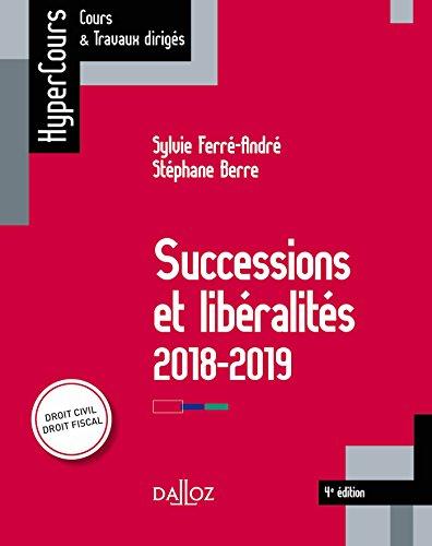 Successions et libéralités (HyperCours) par  Sylvie Ferré-André