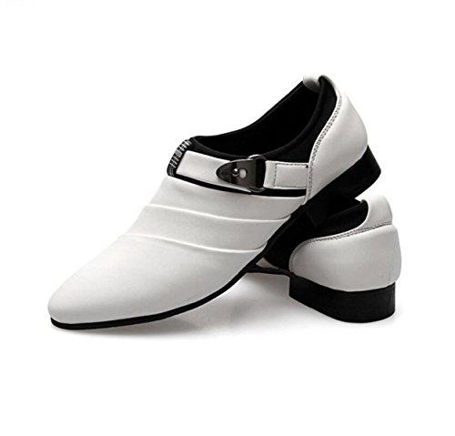 De Zapatos Cuero Ocio Señalaron Grrong Los De Blanco Hombres De Moda qSTqBY