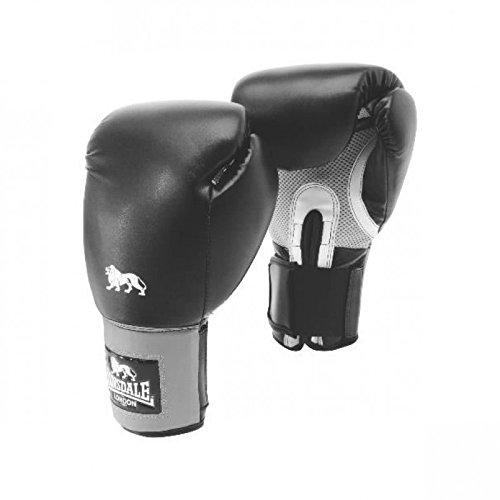 Lonsdale Erwachsene Jab Boxhandschuh, schwarz/Grau, 12 oz