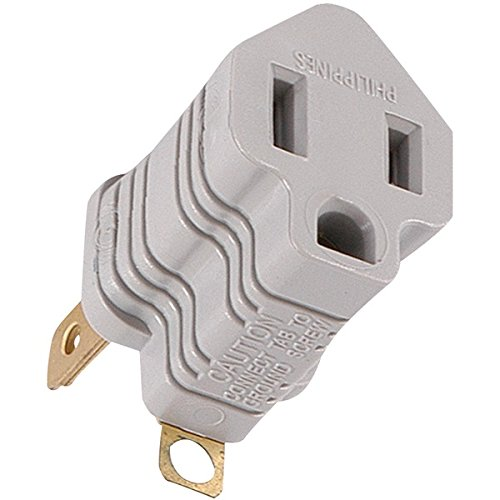 GE 58900 Polarized Grounding Adapter Plug (Gray) (Dvd-player Ge)