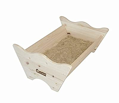 Elmato 12828 Rabbit Bed Natural Wood with Hemp Base by Elmato