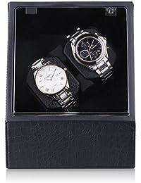 CRITIRON Coffret Watch Winder- Automatischer Uhrenbeweger aus PU-Leder für Zwei Uhren(2+0) (2)
