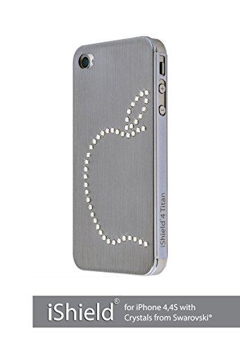 iShield® 4 Titan Custodia per iPhone 4,4S con Crystals from Swarovski®, Marca e Modello: iShield® 4 Titan Argento Mela