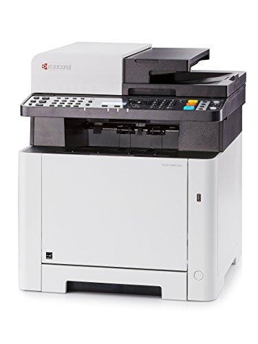 Kyocera Ecosys M5521cdw 4-in-1 WLAN Farblaser Multifunktionsdrucker | Drucker • Kopierer • Scanner • Faxgerät | Mobile-Print-Unterstützung für Smartphone und Tablet