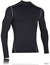 Under Armour UA CG Armour Mock Camiseta de Manga Larga, Hombre, Negro (001), XL