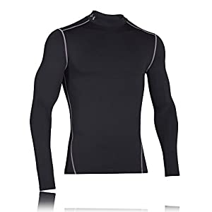 UA ColdGear Armour Compression Mock, Black, Medium