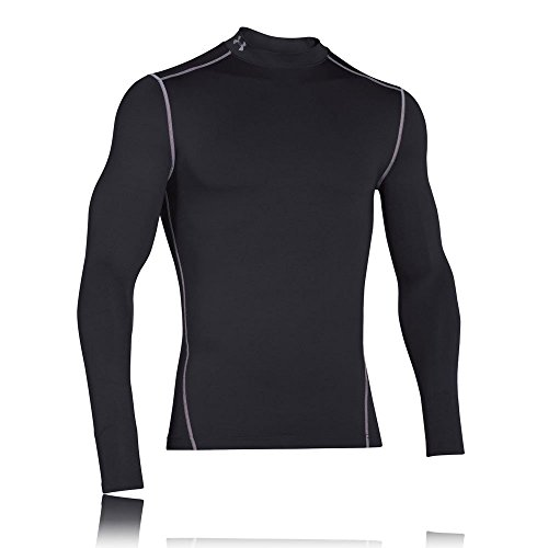 Under Armour Herren UA CG Armour Mock Fitness-Sweatshirts, Black/Steel, M