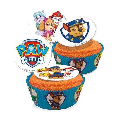 16 mini dischi di zucchero per dolce Paw Patrol