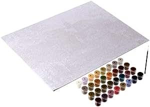 "Plaid Thomas Kinkade Kit peinture Par numéro Kit - 16 ""x 20"" x -The Rose trémière maison"