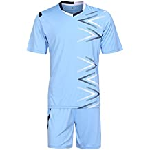 Inlefen Equipo Hombre Niños Fútbol Set Jerseys Uniformes Niños Fútbol Kit Camisa Chándal