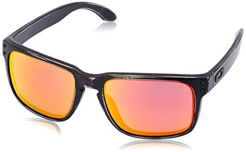 Oakley Herren Holbrook Sonnenbrille, Schwarz (Black Decay), - Holbrook Sonnenbrille White