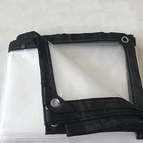 LXLA- Durchsichtige regendichte Plane mit Ösen verdicken Plastic Sunscreen Tarp Blatt Rainproof Schuppen Tuch Isolierung Markise - 120g / m² (größe : 2m x 5m)