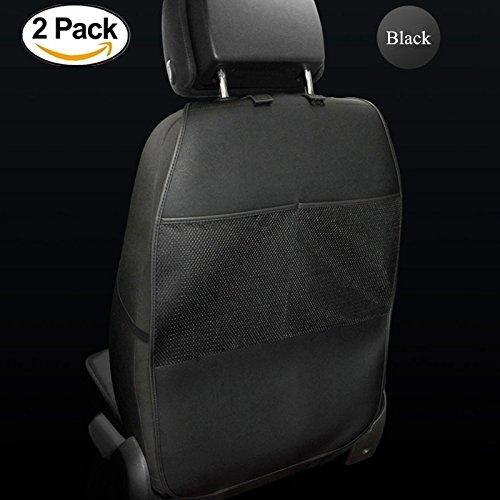 HONCENMAX Rückenlehnenschutz Auto Rückenlehne Schutz Wasserdicht Einfach zu Säubern Multifunktional Veranstalter Aufbewahrungstasche Reisezubehör PU-Leder [2 Packungen] (Abdeckung Für Autositz Baby-mädchen)