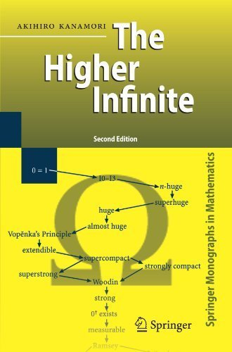 The Higher Infinite: Large Cardinals in Set Theory from Their Beginnings (Springer Monographs in Mathematics) 2nd 2003. Corr edition by Kanamori, Akihiro (2008) Paperback