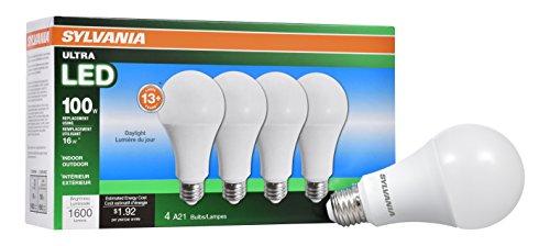 Sylvania Home Beleuchtung 72978A21Sylvania, entspricht 100W, LED Lampe, effiziente 16W 5000K (4er Pack), Tageslicht, 4Stück (Sylvania 100w Led-lampe)