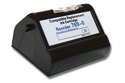 vhbw Druckerpatronen, Tintenpatronen, Druckerpatrone, Tintenpatrone blau mit Chip für Pitney Bowes Frankiermaschinen E700 wie 769-0.