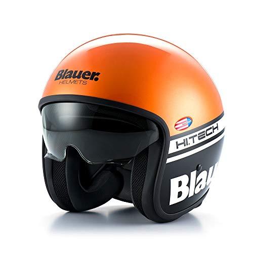 S 201585025300103/- Neon Street Origine helmets orange Casque Demi Jet