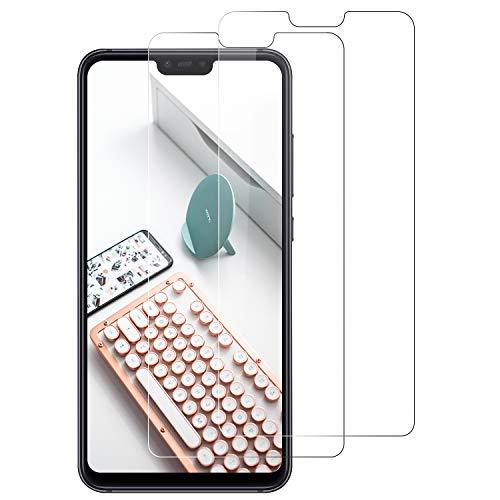 DOSNTO Protector de Pantalla Compatible con Xiaomi Mi 8 Lite [2-Pack, Cristal Templado [Cristal + Resina] Vidrio Templado con [9H Dureza] [Alta Definicion] [3D Borde Redondo]