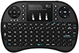 Rii i8+BT LED Backlit Mini Bluetooth Wireless Keyboard with Touchpad Mouse UK Layout with Built-in Rechargeable Battery