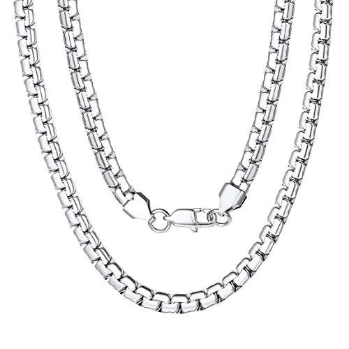 Gold Ohne Anhänger Name Initiale Alphabet Buchstaben Große Kette Anhänger Edelstah Halskette für Damen Herren Farbe Gold mit 66cm Stahl Seil-Kette ()