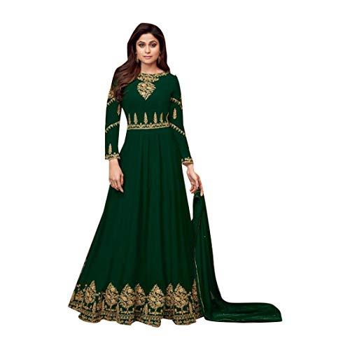 67bd585b8 Green Indian Ethnic Anarkali Salwar Kameez Lunghe Donne Musulmane Vestono  Bollywood Abaya Designer Wedding 7546