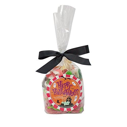 Halloween Süßigkeiten-Tüte, gruseliger Süßigkeiten-Mix in einer 230 Gramm großen Naschtüte, Süßes und Saures in einer prall befüllten Kiosktüte