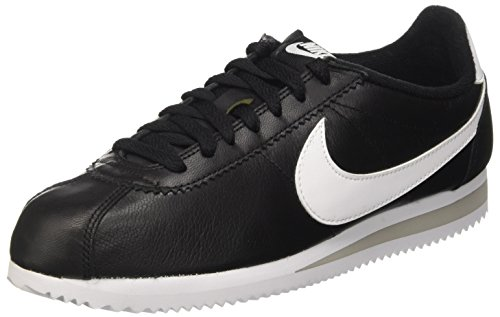 Nike Herren Classic Cortez Prem Laufschuhe, Schwarz/Weiß/Grau (Schwarz/Weiß-Neutral Grau), 45 EU (Cortez Nike Schwarz Weiß)