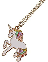 Rainbow Unicorn Necklace for girls Pendant Necklace Birthday Gift Xmas