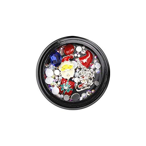 n Theme Nail Art Strass 3D Schmuck Diamant-Zubehör Nail Supplies Maniküre DIY Dekoration-Werkzeuge G314 ()
