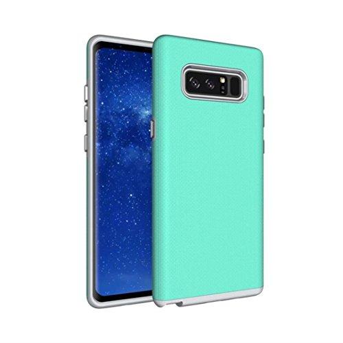 Für Samsung Note 8stylische Fall, Y56Ultra Slim Armor Weich Rugged [kieselgels + PC] Schutzhülle für Samsung Galaxy Note 8, mintgrün