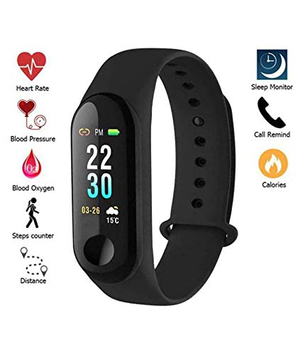 Sdeal Mi compitable Activity Tracker   Heart Rate Monitor Sleep Tracker   Smart Band  Fitness Tracker  Pedometer Calories & Distance Calculator - Red