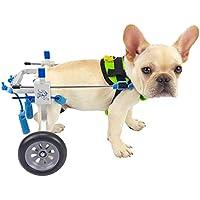 Silla de ruedas para perros, coche para perros, Adecuado para mascotas Pata trasera Práctica