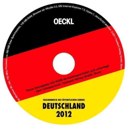 OECKL. Taschenbuch des Öffentlichen Lebens Deutschland 2012: CD-ROM