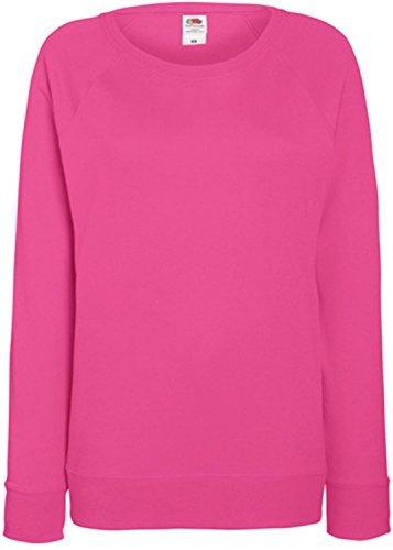 Damen Lightweight Raglan Sweat - In vielen tollen Farben Farbe Fuchsia Größe L