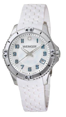 wenger - 010121104 - Montre Femme - Quartz Analogique - Bracelet Silicone Blanc