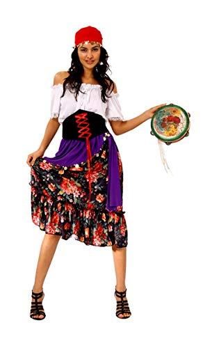 Kostüm Erwachsene Nerd Für - Nerd Clear Kostüm für Erwachsene Zigeunerin Rilana Gr.40/42