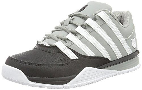 K-Swiss Herren Baxter Sneaker, Schwarz (Black/Neutral Gray/White), 42 EU