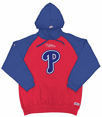 MLB Philadelphia Phillies Youth Big Logo Pullover Kapuze, Jungen, rot, X-Large (Jersey Stitch-pullover)