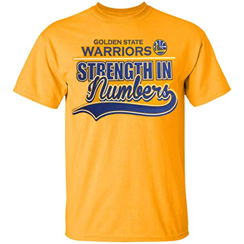 Outerstuff T-Shirt Golden State Warriors NBA Youth 8-20 Stength in Numbers Gelbgold Team, gelb, Youth X-Large 18-20 (State T-shirt Youth)
