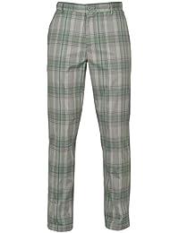 Slazenger Mens 4 Pockets Checked Golf Trousers Pants (38WL, RoyalNavy Check)