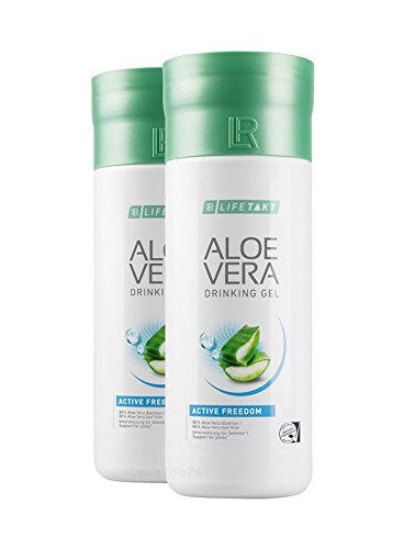 LR LIFETAKT Aloe Vera Drinking Gel Active Freedom Nahrungsergänzungsmittel (2x 1000 ml)