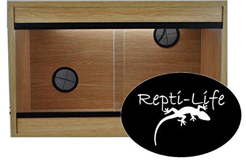 Repti-Life 24x15x15 Inch Vivarium Flatpacked In Oak, 2ft Viv