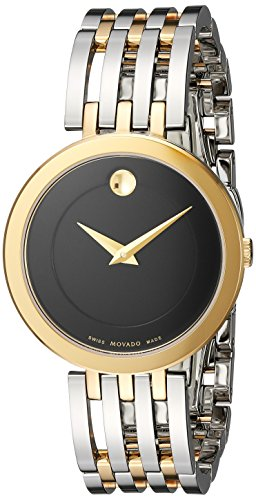 Movado Women's Swiss Quartz and Stainless Steel Casual Watch, Color:Two Tone (Model: 0607053)