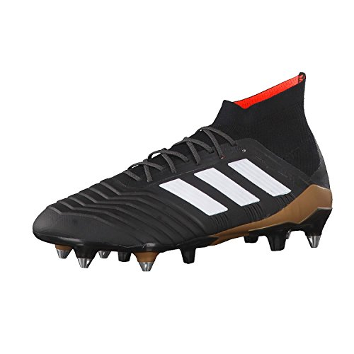 special for shoe picked up 2018 sneakers adidas Men's Predator 18.1 Sg Footbal Shoes, Black (Cblack/Ftwwht/Solred  Cblack/Ftwwht/Solred), 10 UK