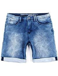 Joggjeans Jeans Kurze Hose Shorts Sublevel Sweat Denim Bermuda Herren Jogger Grau Blau W29-W38