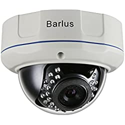 Barlus POE IP Dome Kamera Indoor / Outdoor Wetterfeste Sicherheit Kamera Vandal Proof 1080P Kamera Full HD, 2,0 Megapixel, IP66, 25m Nachtsicht